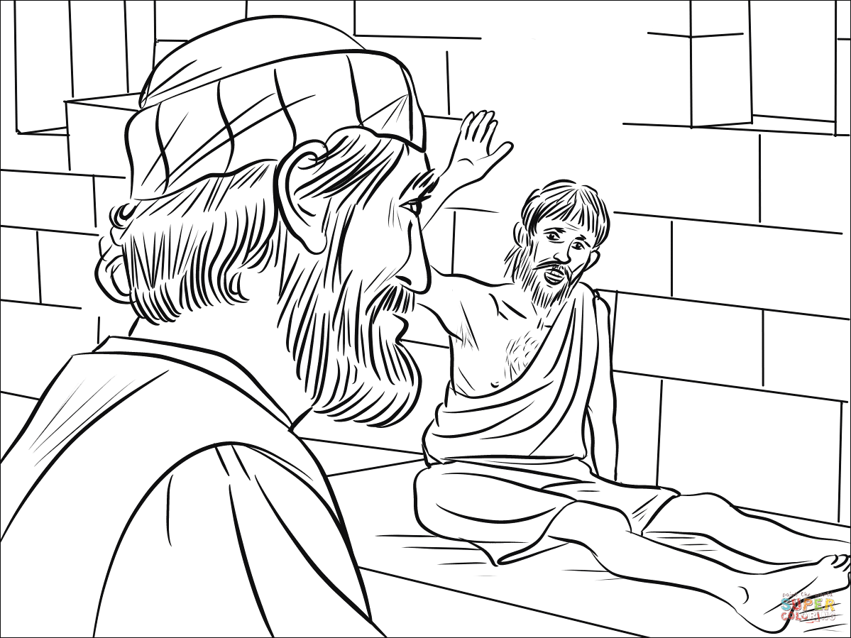 Peter Met a Paralyzed Man Called Aeneas coloring page