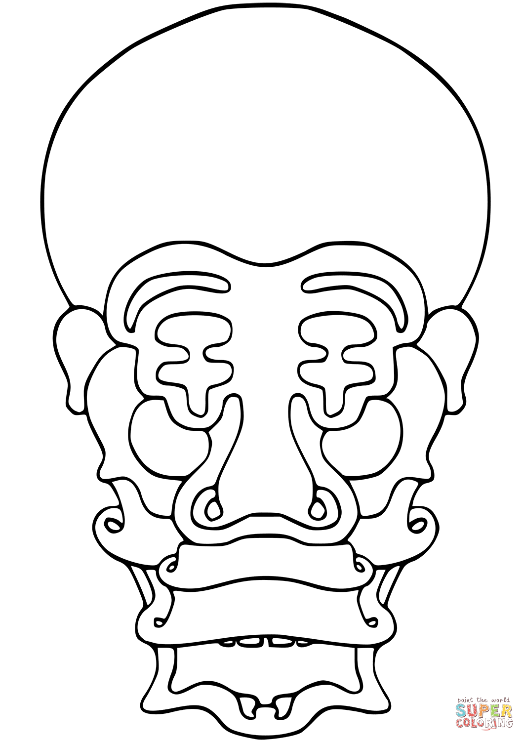 Vegepedia Abstract Face Coloring Page