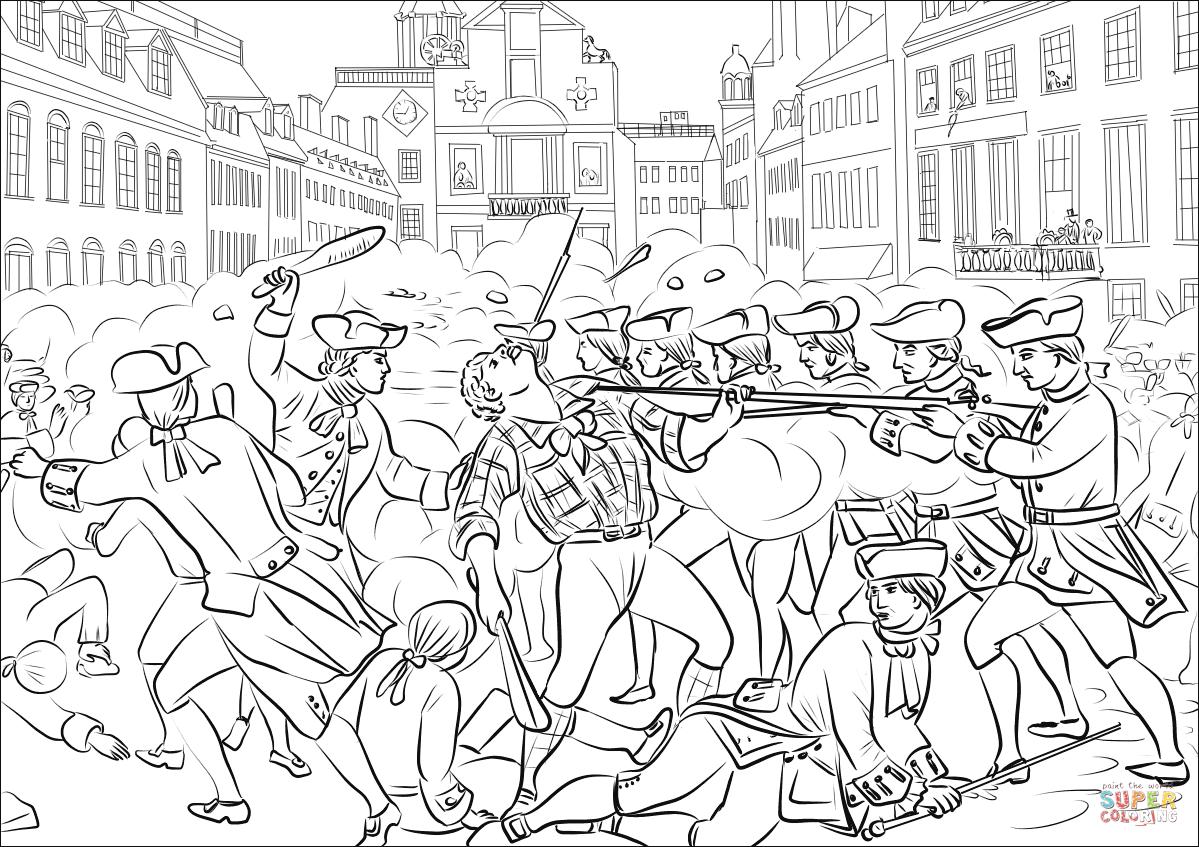 Dibujo De Masacre De Boston Para Colorear