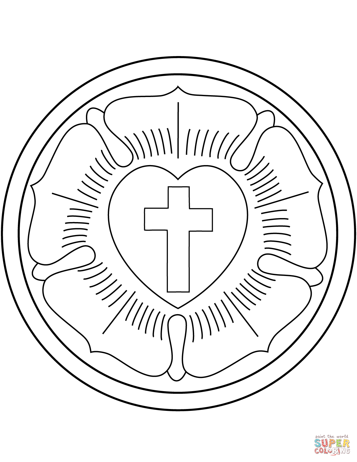 Martin Luther Rose Coloring Page