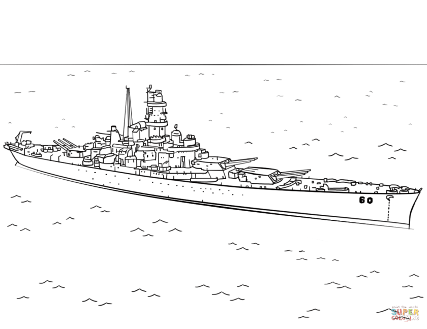 uss alabama coloring page  free printable coloring pages