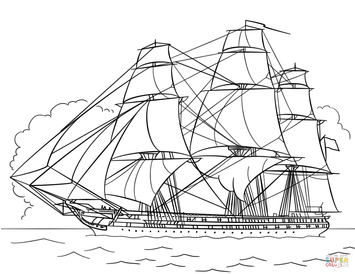 uss constitution diagram afi wiper motor wiring coloring page free printable pages