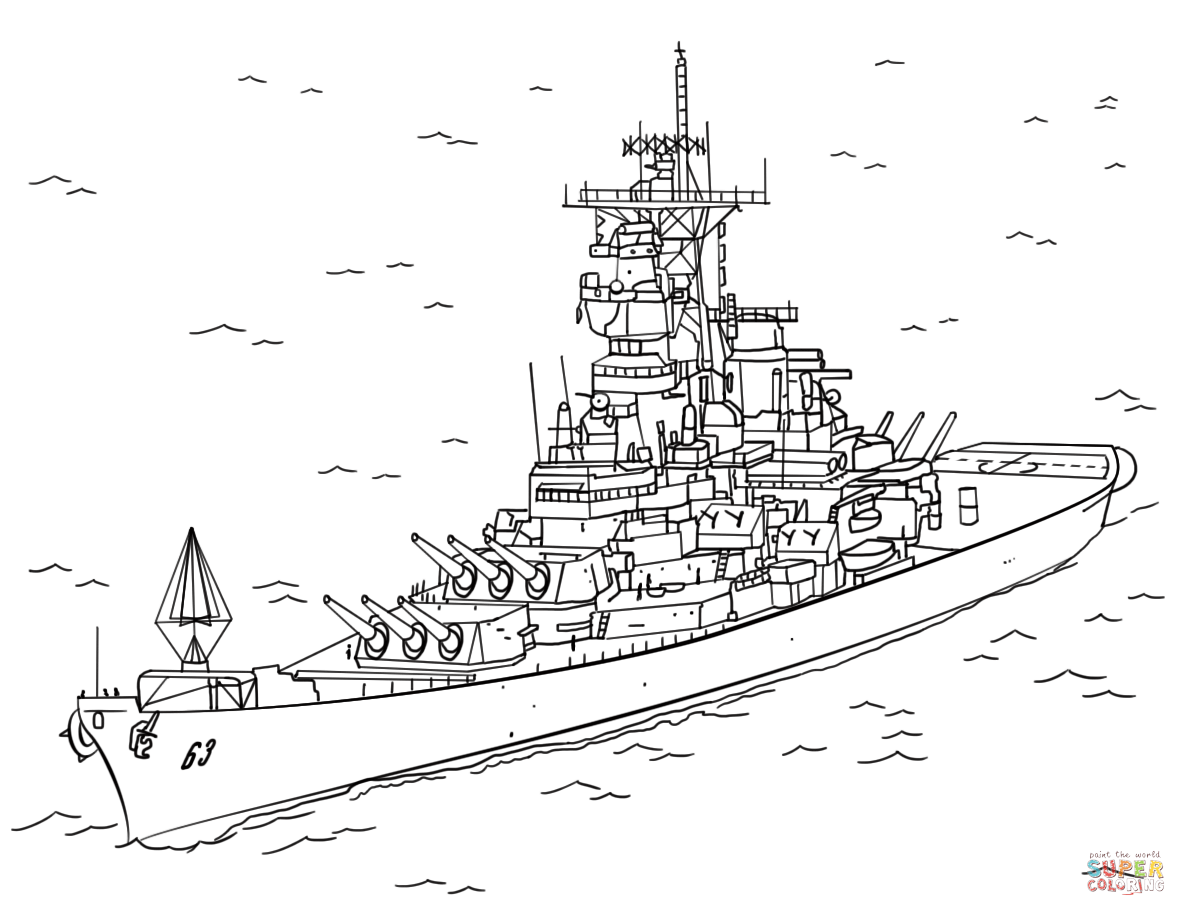 Battleship Missouri Coloring Page Coloring Coloring Pages