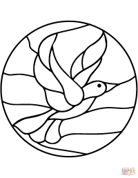 Bird Stained Glass coloring page   Free Printable Coloring ...