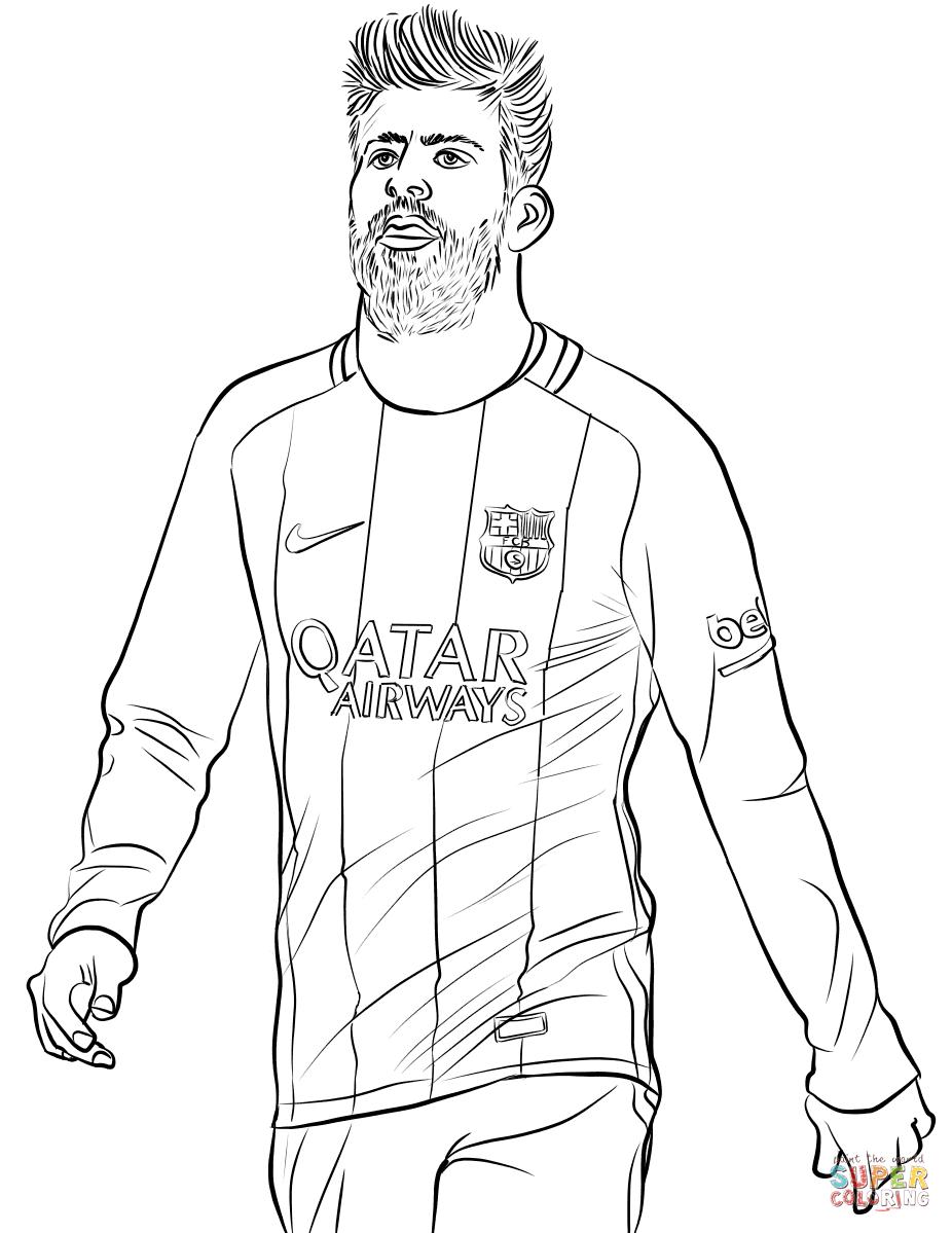 Gerard Piqué tegninger