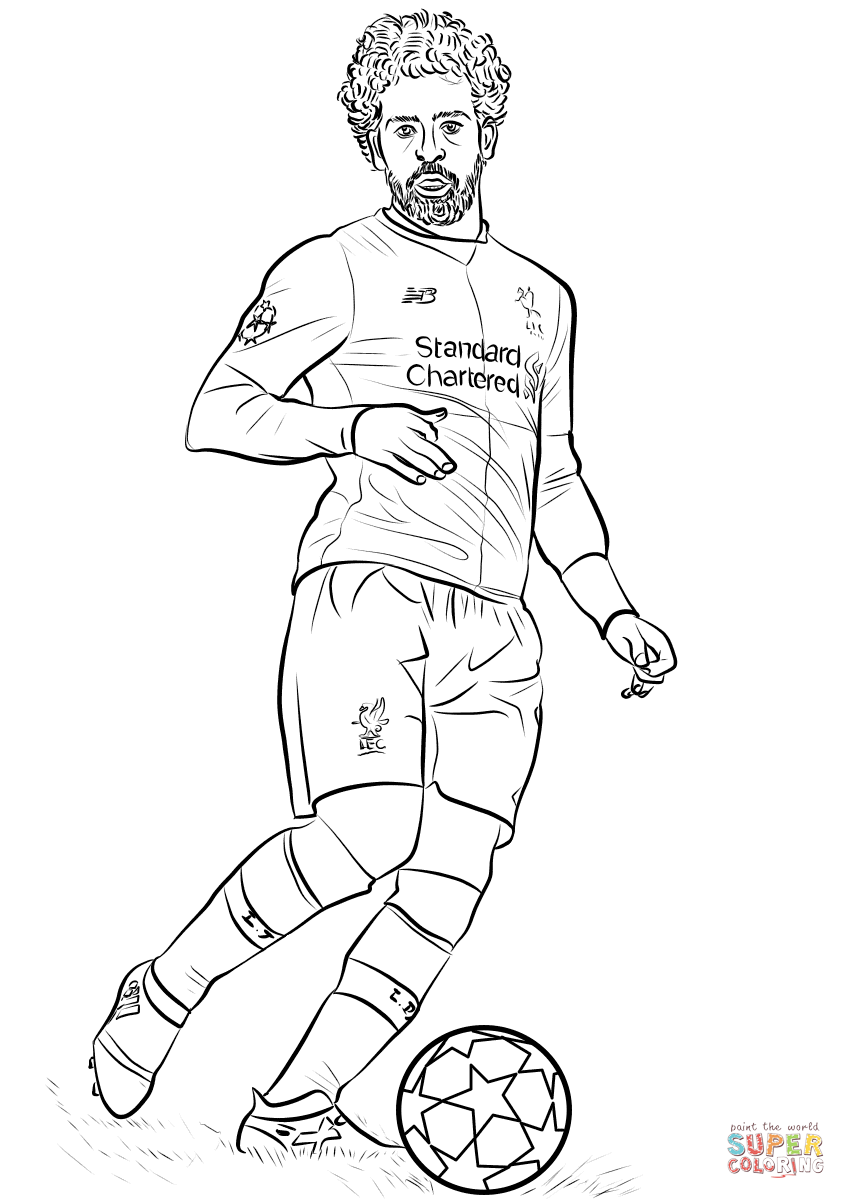 Neymar Coloring Pages Psg