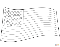 US Flag coloring page   Free Printable Coloring Pages