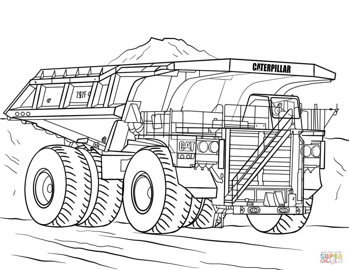 Mack Dump Truck Drawing