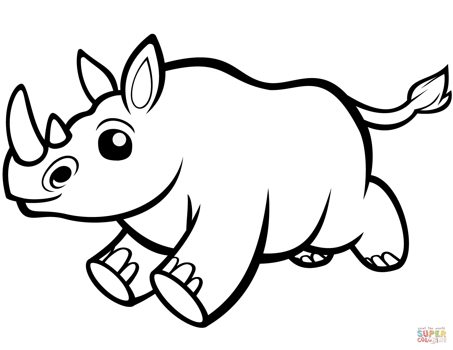Cute Rhino Coloring Pages