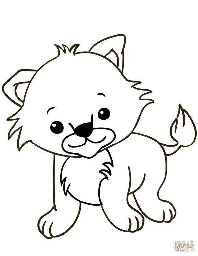 Cute Lion Cub coloring page  Free Printable Coloring Pages