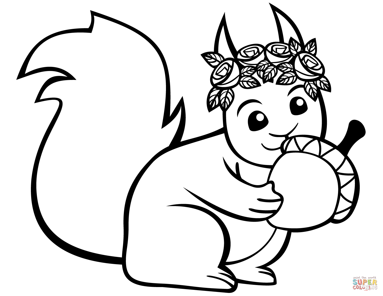 Mammals Squirrels Chipmunks Coloring Pages Printable
