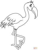 Flamingo coloring page   Free Printable Coloring Pages