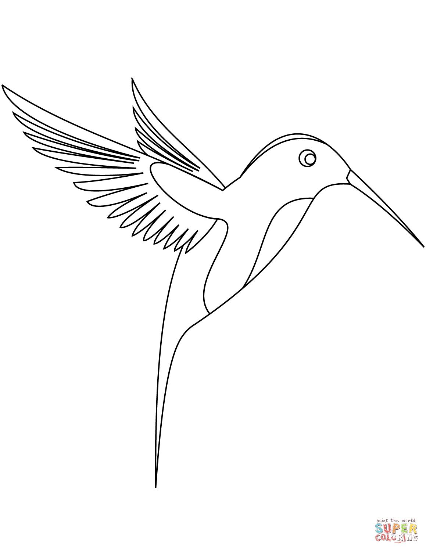 Ausmalbild Kolibri Ausmalbilder kostenlos zum ausdrucken