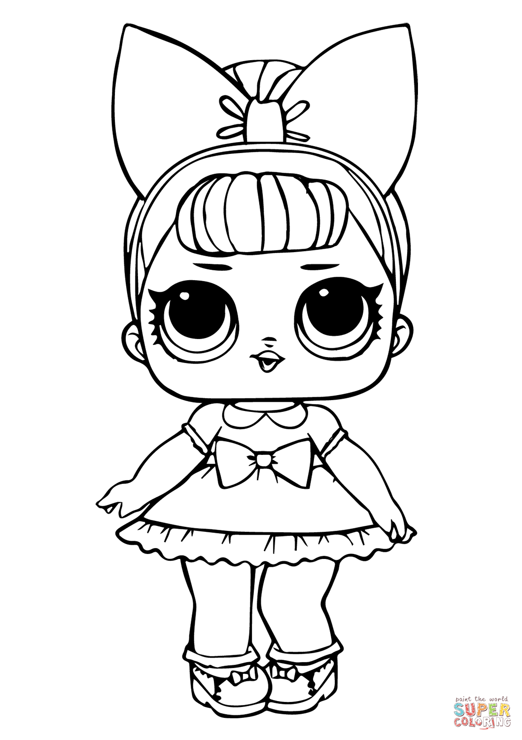 Fancy Glitter Lol Surprise Doll Coloring Page