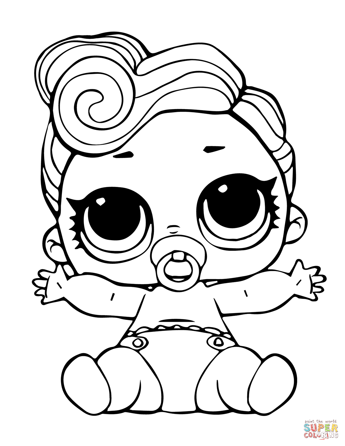 Lol Doll The Lil Queen Coloring Page
