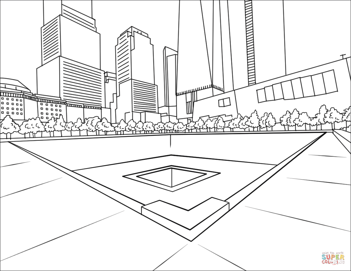 National September 11 Memorial Coloring Page