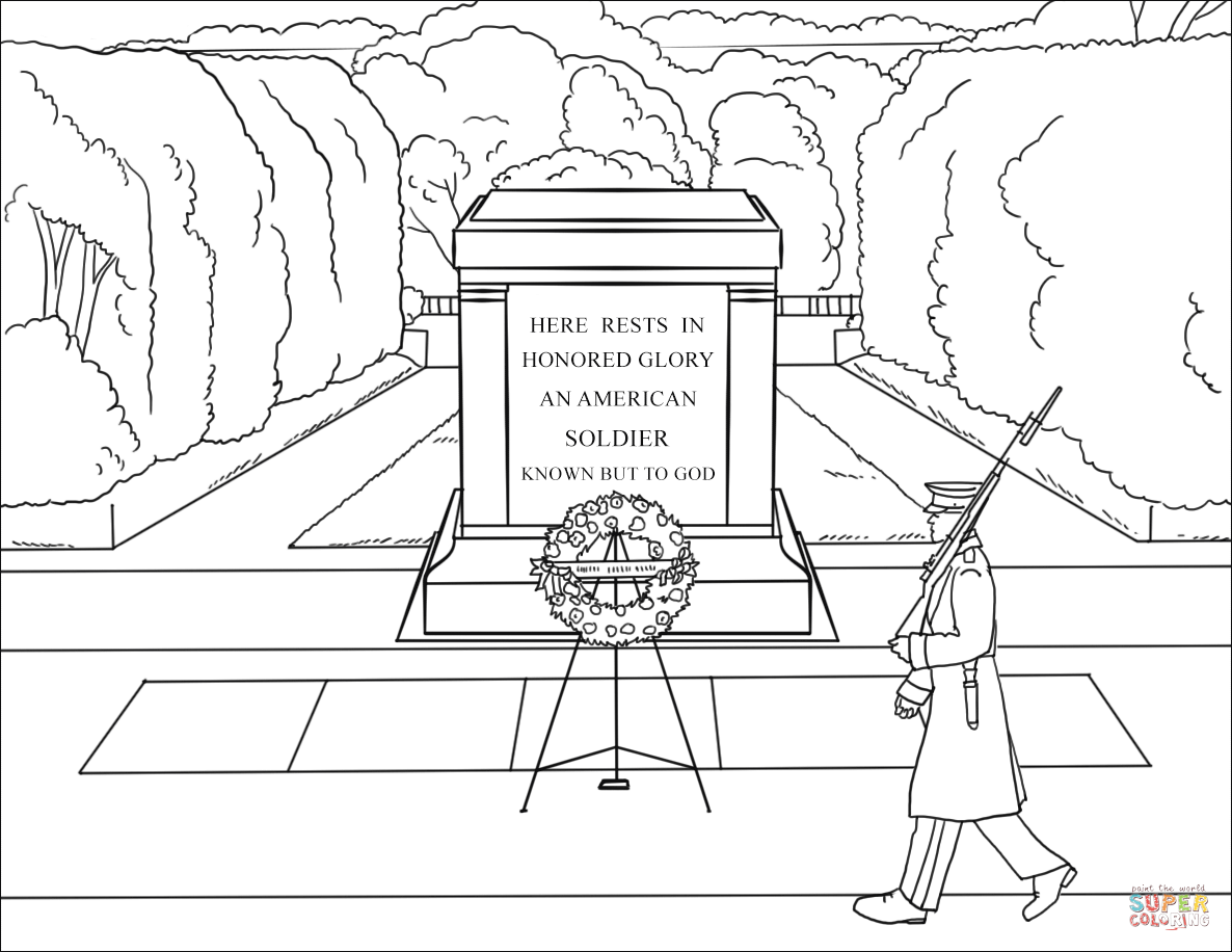 Tomb Of The Unknown Sol R Coloring Page