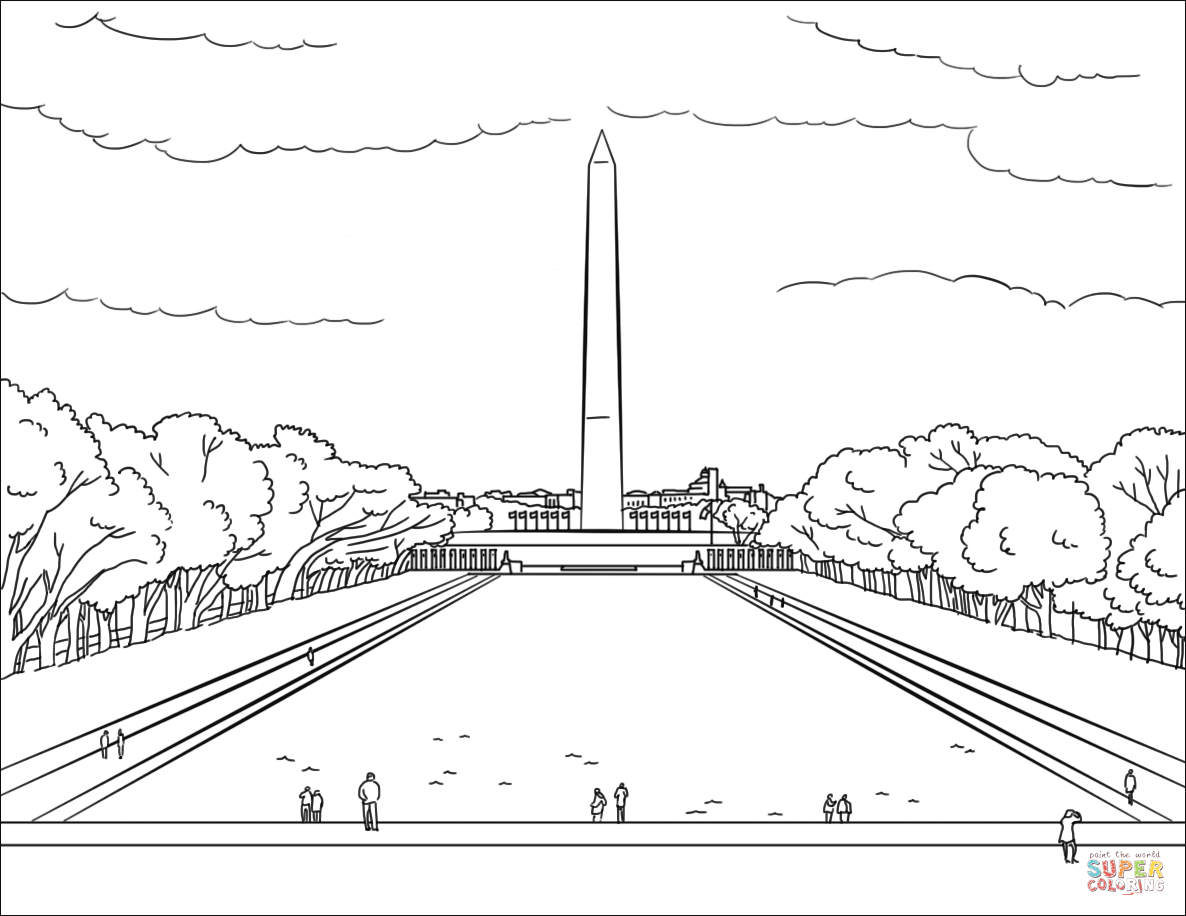 Washington Dc Worksheets Coloring Pages