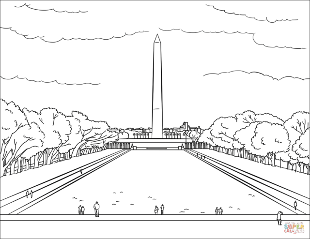 Washington Monument coloring page  Free Printable Coloring Pages