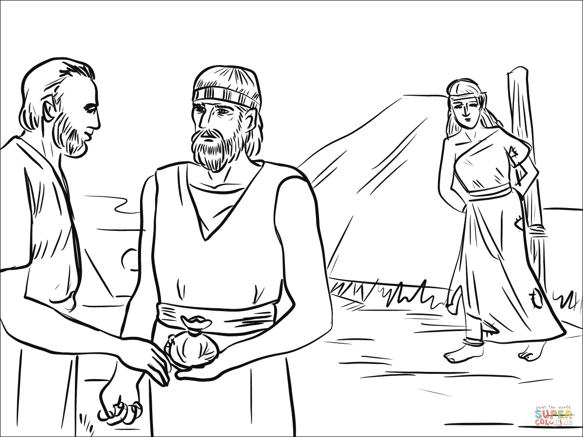 Hosea Took Gomer from the Slave Market coloring page