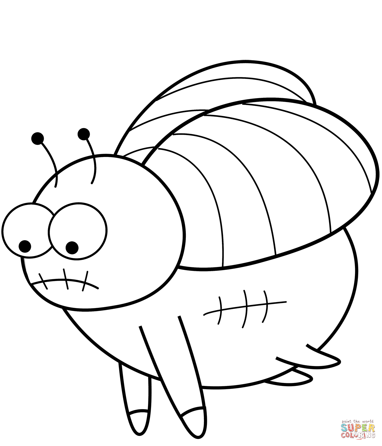 Cartoon Fly Coloring Page
