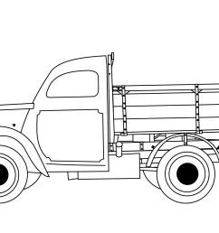 click the classic truck coloring pages  [ 1500 x 1060 Pixel ]
