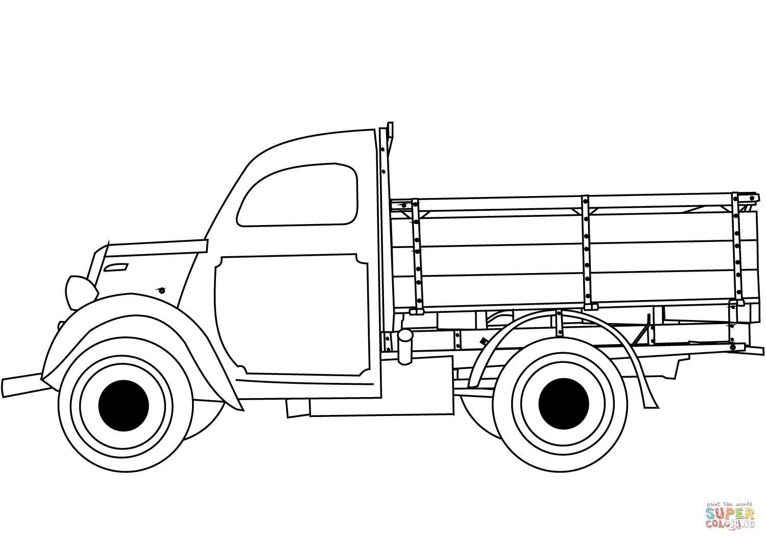 hight resolution of click the classic truck coloring pages