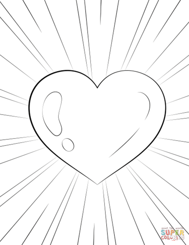 Heart coloring page  Free Printable Coloring Pages