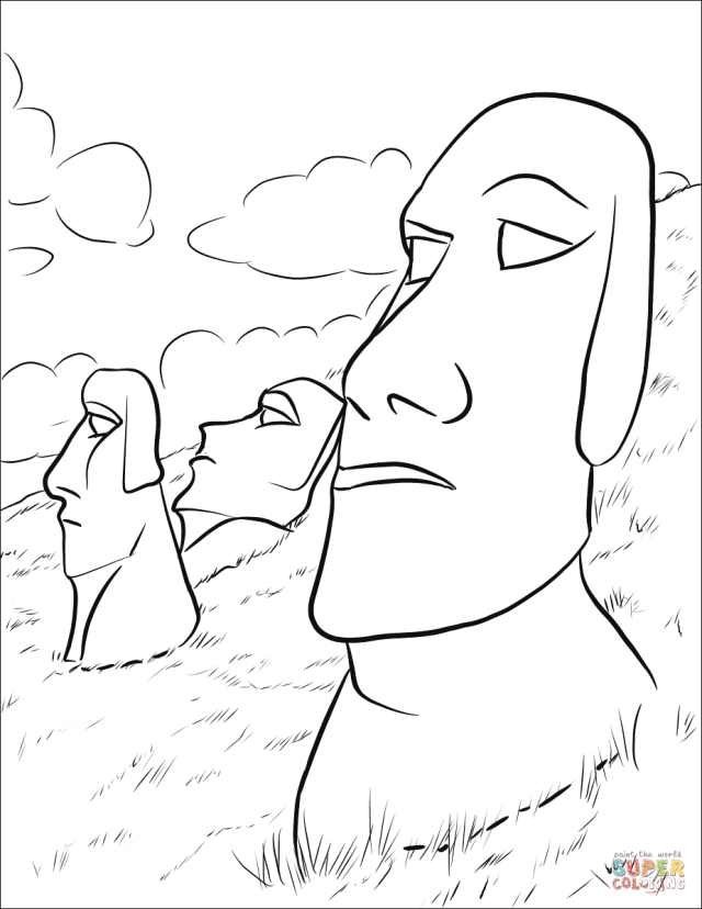 Moai coloring page  Free Printable Coloring Pages