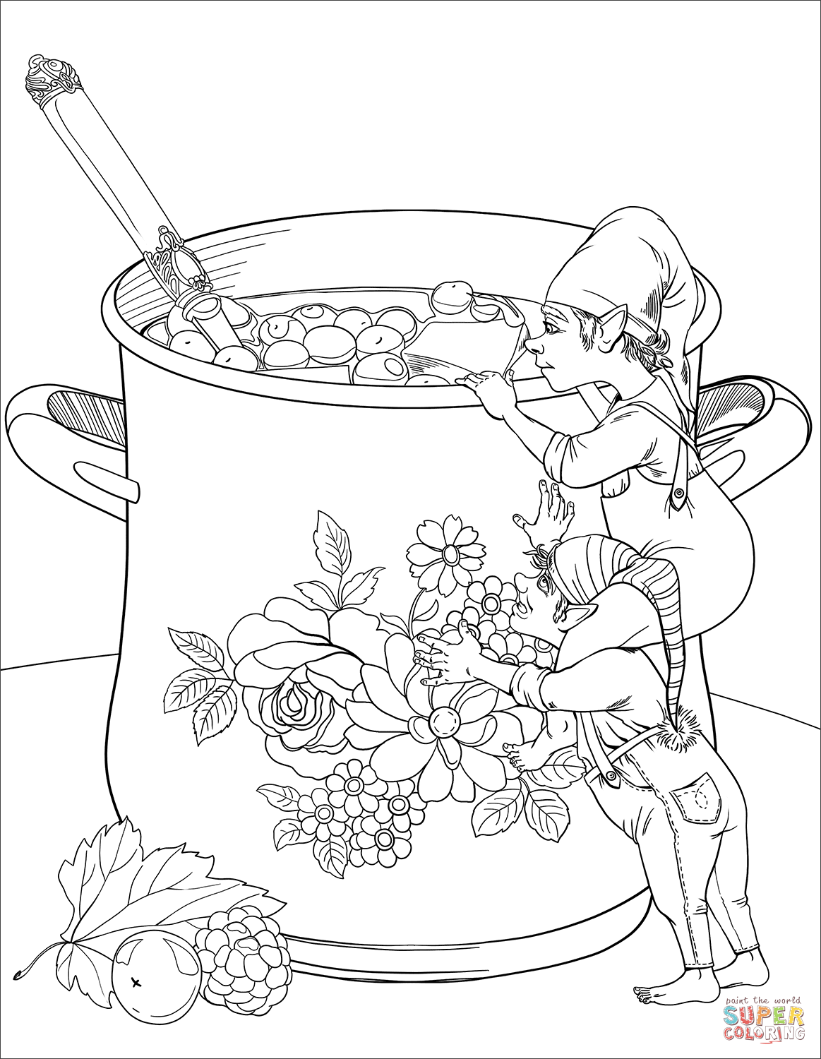 Gnomes Are Going To Taste A Homemade Juice Coloring Page