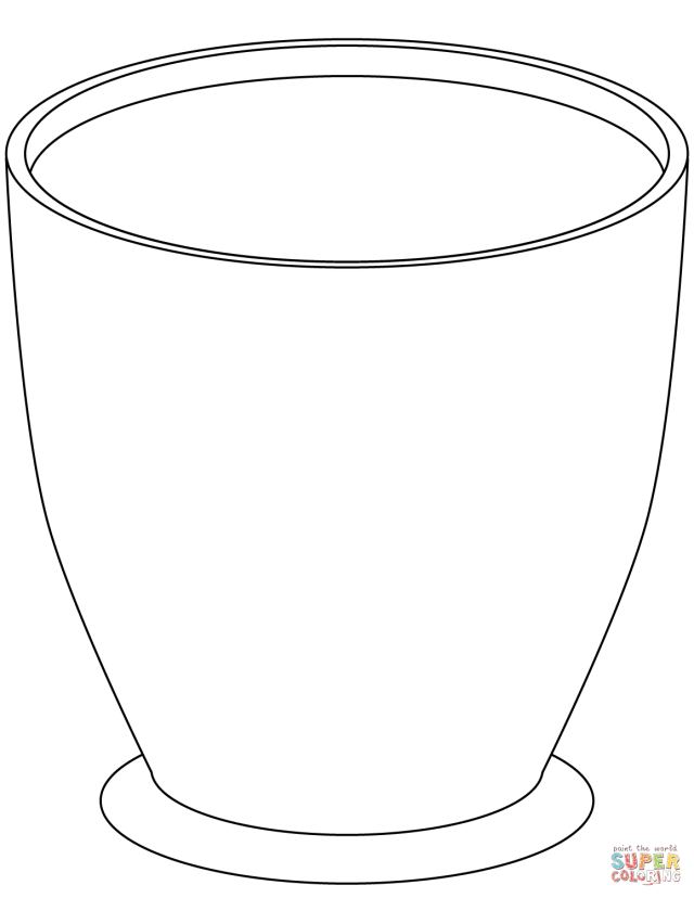 Large Empty Flower Pot coloring page  Free Printable Coloring Pages