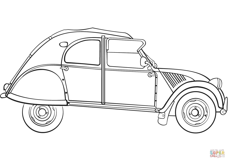 Ausmalbilder Autos Citroen