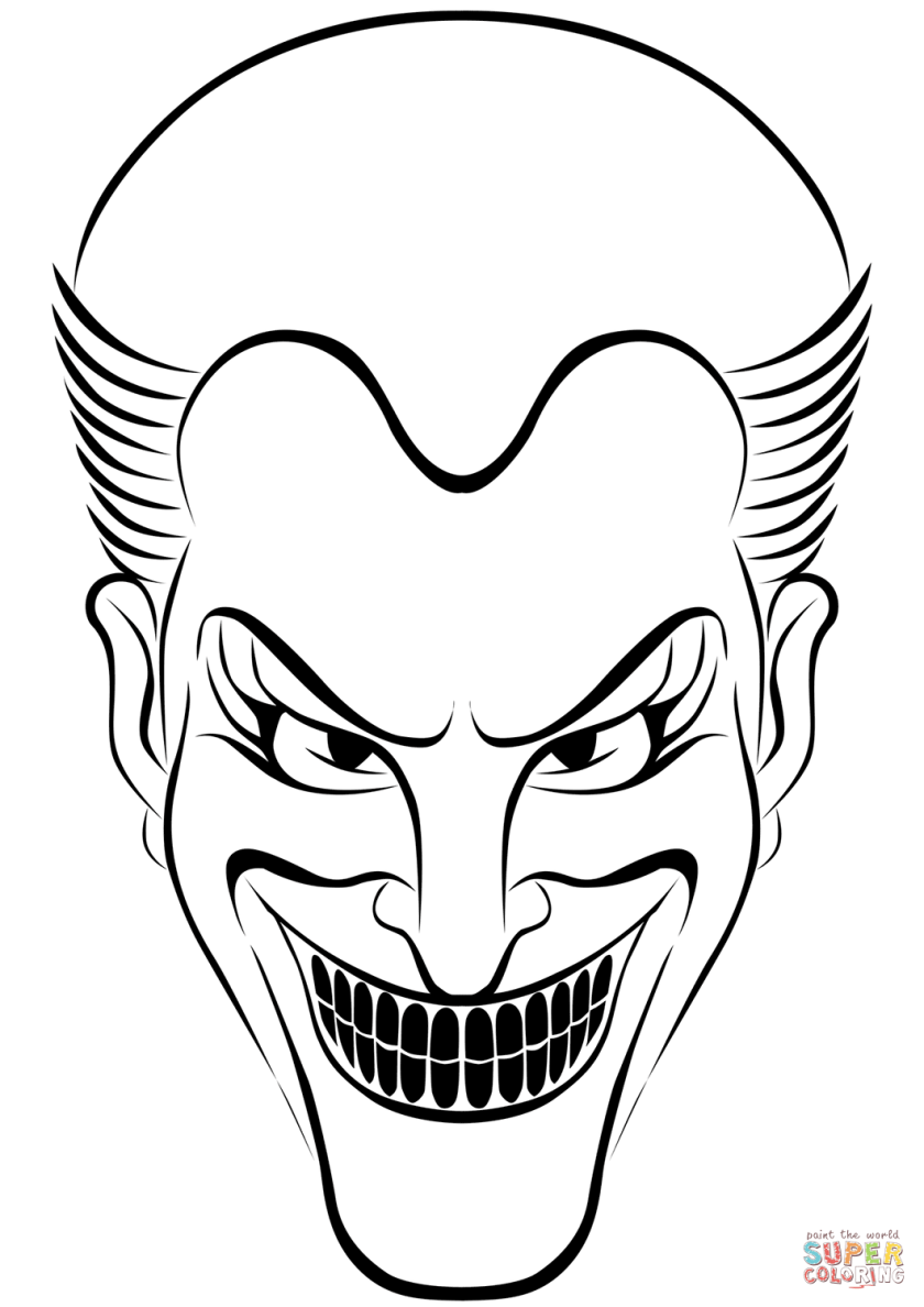 joker coloring page  free printable coloring pages