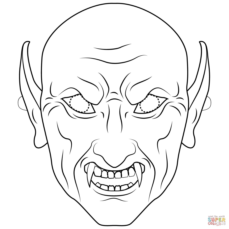 Disegno di Maschera da vampiro da colorare Disegni da