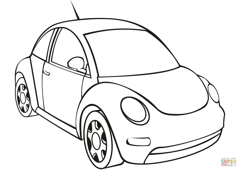 Dibujo De Volkswagen Golf Para Colorear Dibujos Para