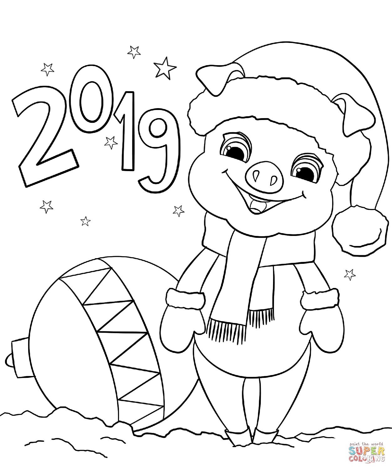 2019 Happy New Year Coloring Page Free Printable Coloring Pages