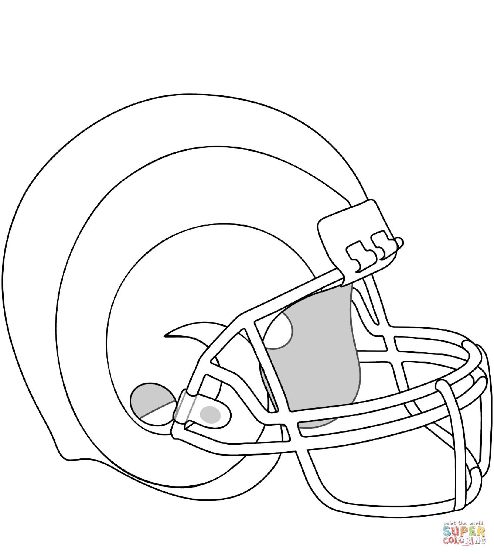 Los Angeles Rams Helmet Coloring Page