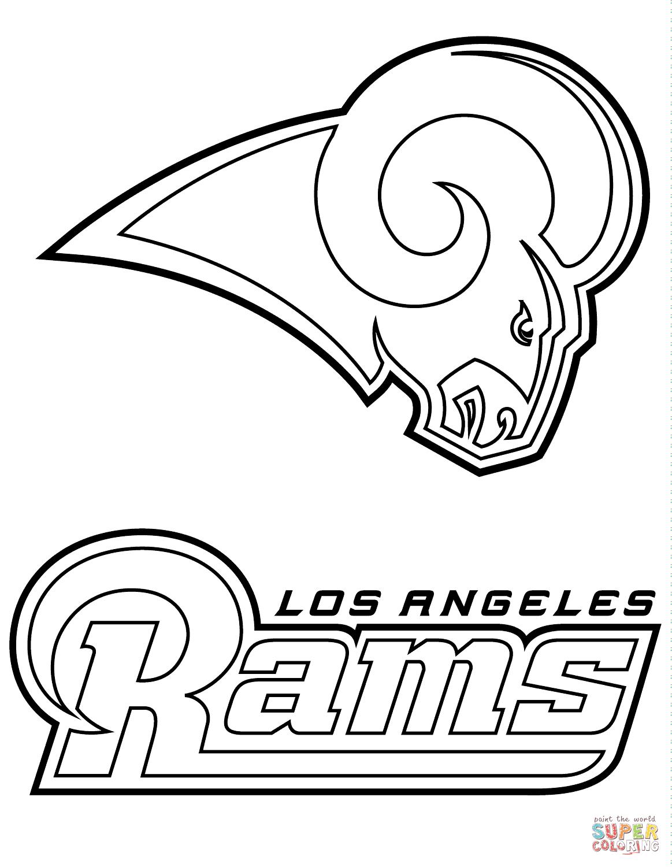 Los Angeles Rams Logo Coloring Page