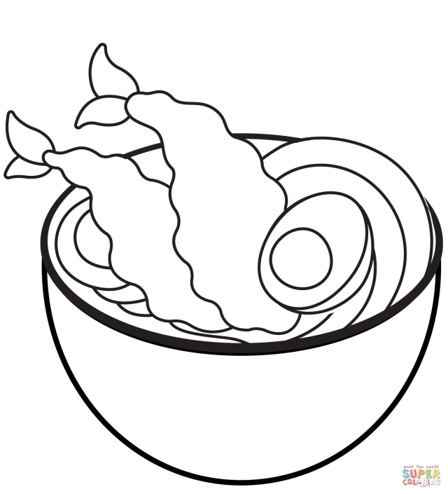 Noodle Soup coloring page  Free Printable Coloring Pages