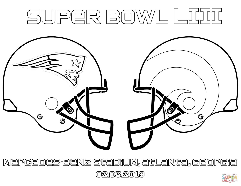 Super Bowl Coloring Page