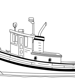 click the tugboat coloring  [ 1500 x 1060 Pixel ]