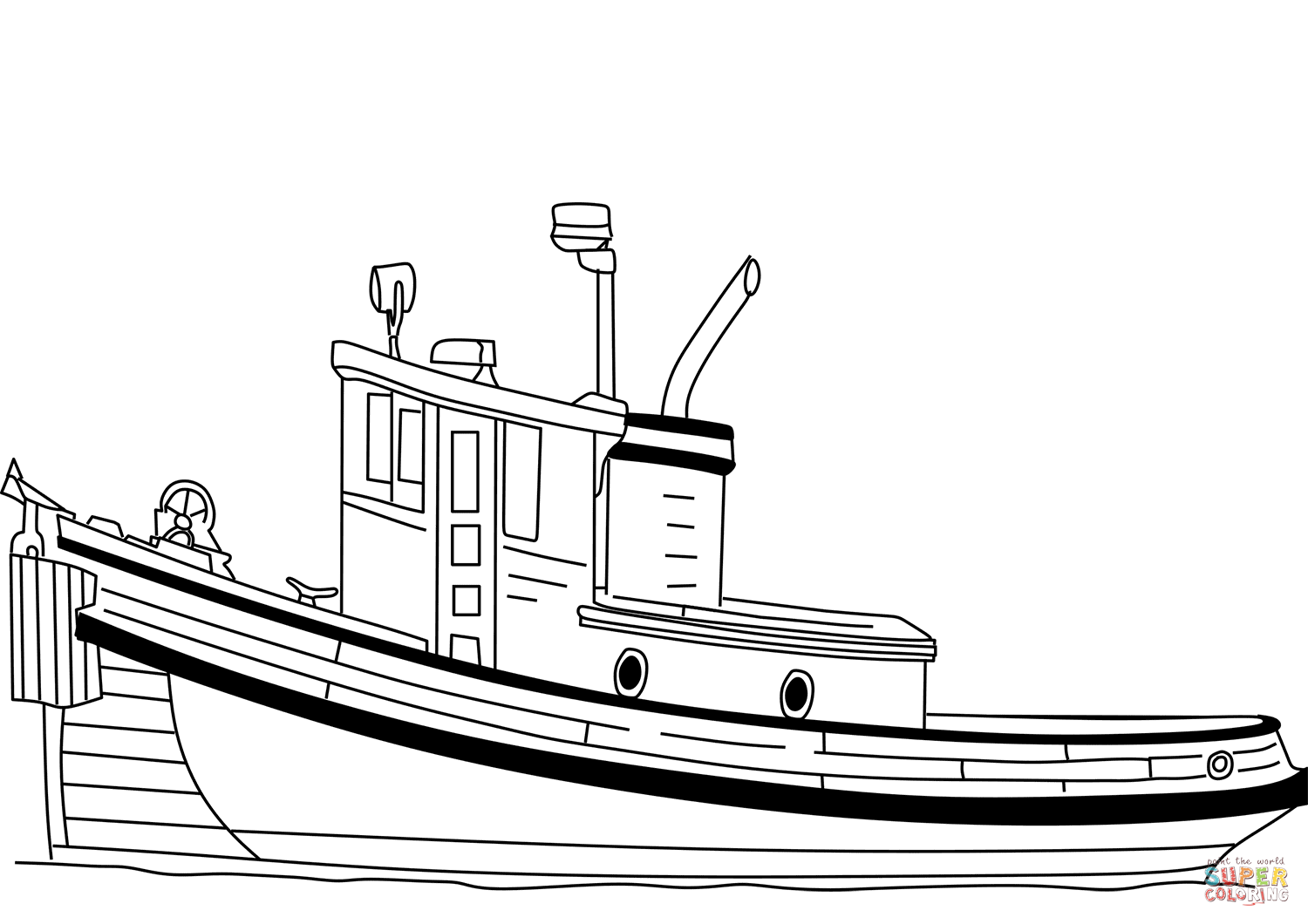 hight resolution of click the tugboat coloring