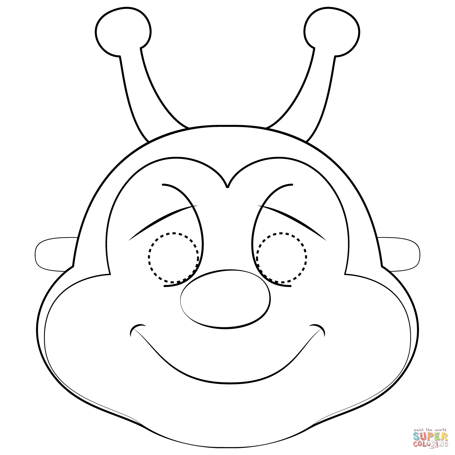 Bee Mask Coloring Page