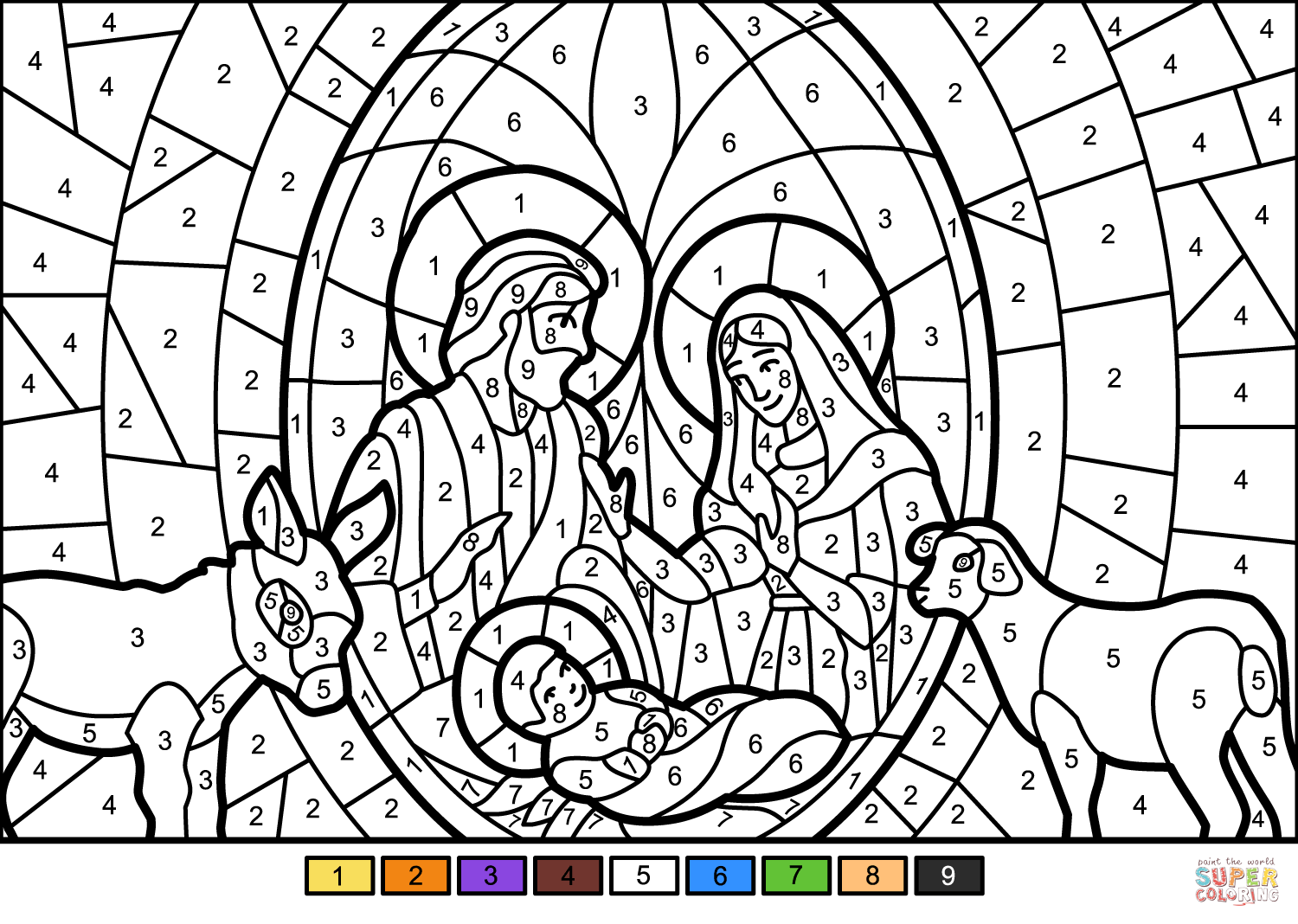 Coloring And Drawing Christmas Nativity Coloring Pages