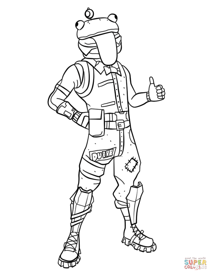 Fortnite Beef Boss Coloring Page Free Printable Coloring Pages