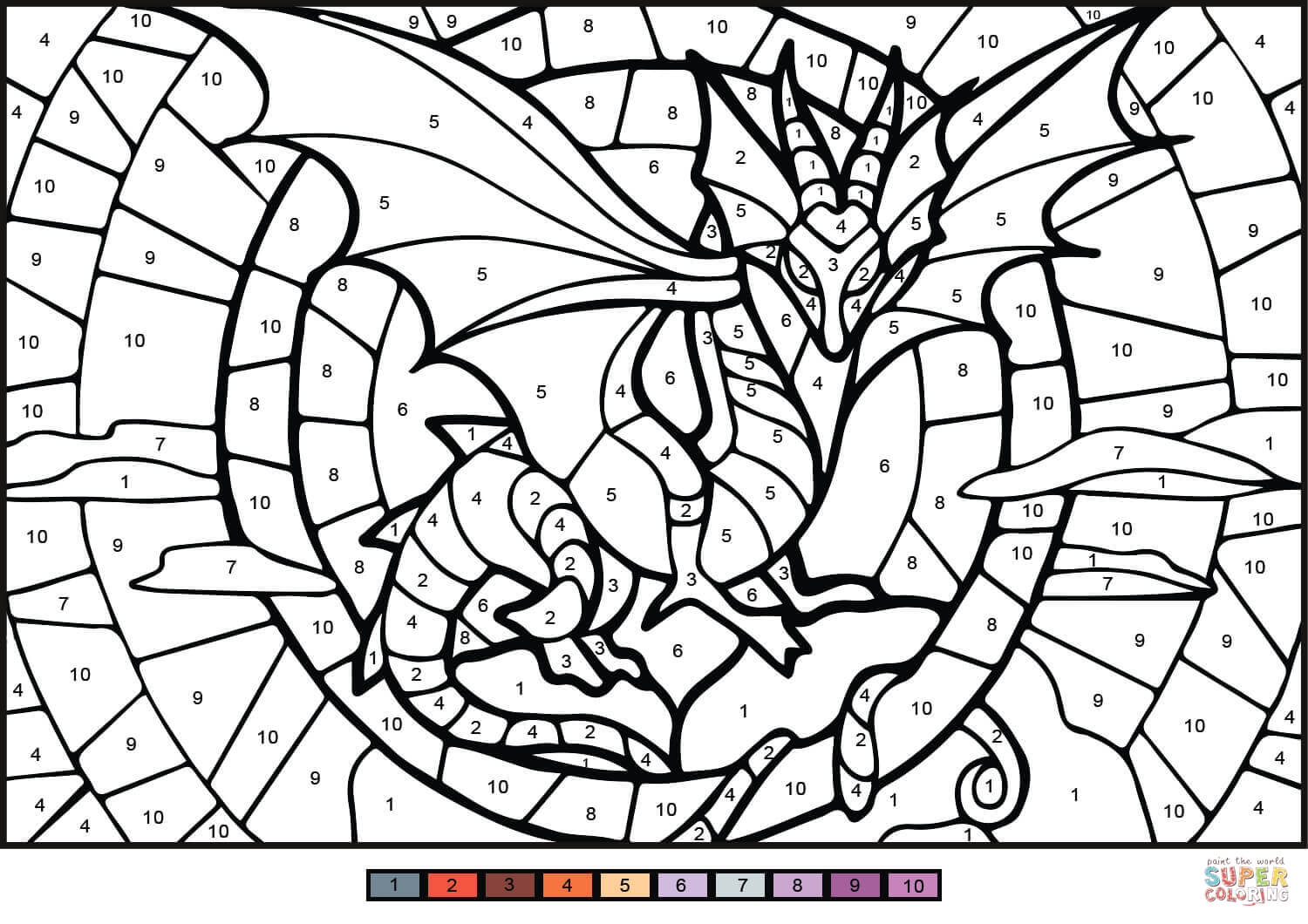Coloring Pages Detailed Dragon