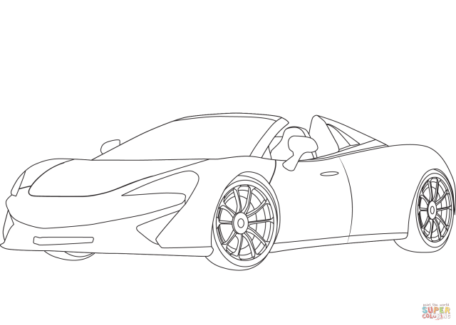McLaren 24S coloring page  Free Printable Coloring Pages