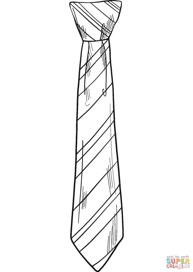 Striped Tie coloring page  Free Printable Coloring Pages