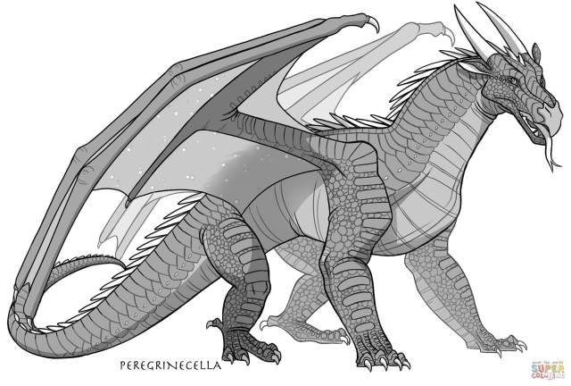 Nightwing Dragon coloring page  Free Printable Coloring Pages
