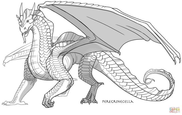Sandwing Dragon coloring page  Free Printable Coloring Pages